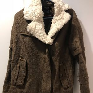 Green Army Style Coat